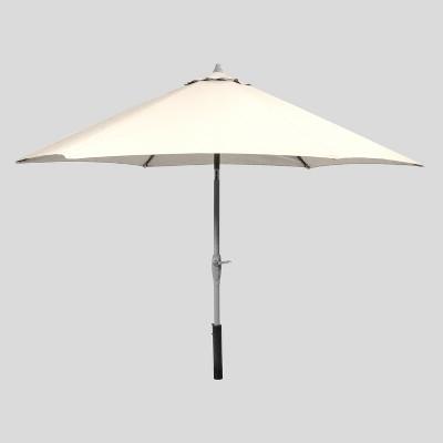 9' Round Patio Umbrella Linen - Black Pole - Threshold™