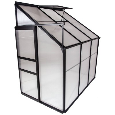 Lean-To Aluminum Greenhouse Clear - OGrow