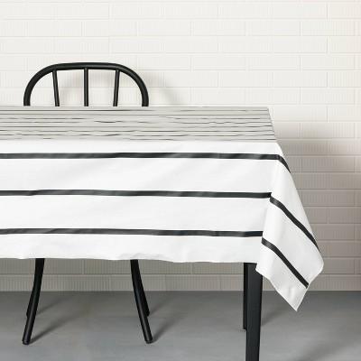 Striped Oil Canvas Tablecloth Black/White - Hearth & Hand™ with Magnolia
