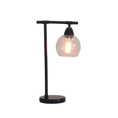 Stationary Down Bridge Table Lamp Black (Includes CFL Light Bulb)- Fangio Lighting