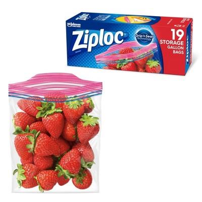 Ziploc Storage Bags Gallon - 19ct