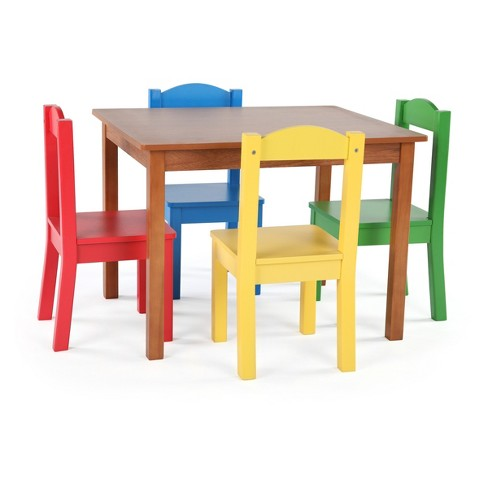 4c27df9cc18e Wood Table   4 Chairs - Highlight Collection - Dark Pine  Primary - Tot  Tutors   Target
