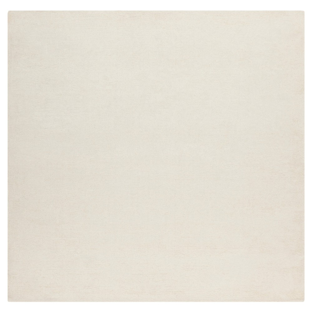 Cream (Ivory) Solid Loomed Square Area Rug - (9'X9') - Surya