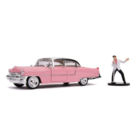 Jada Toys Hollywood Rides Elvis Presley 1955 Cadillac Fleetwood Die-Cast Vehicle with Elvis Die-Cast Figure 1:24 Scale Glossy Pink - image 1 of 4
