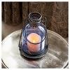 "Smart Living 11"" Monaco Glass LED Candle Outdoor Lantern - Blue - image 2 of 4"