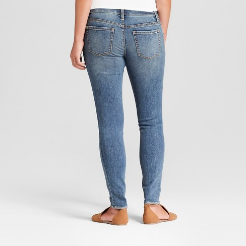 b42f8f72f9ebb Maternity Inset Panel Skinny Jeans - Isabel Maternity By Ingrid & Isabel™  Medium Wash : Target