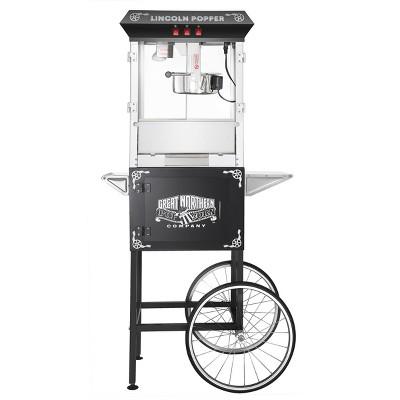 Great Northern Popcorn Lincoln Popcorn Machine With Cart – Black