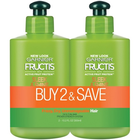 Garnier Fructis Active Fruit Protein Sleek & Shine Hair Treatment Set - 10.2 fl oz - image 1 of 4