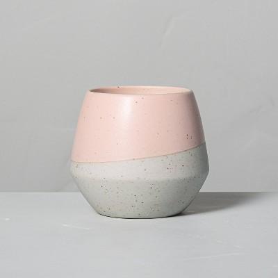 4.8oz Citrus Grove Decorative Geo Ceramic Seasonal Candle - Hearth & Hand™ with Magnolia