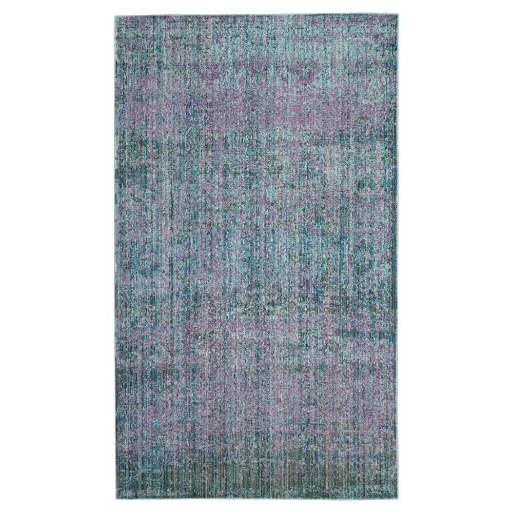 Sacha Area Rug - Turquoise / Multi ( 4' X 6' ) - Safavieh, Turquoise/Multi-Colored