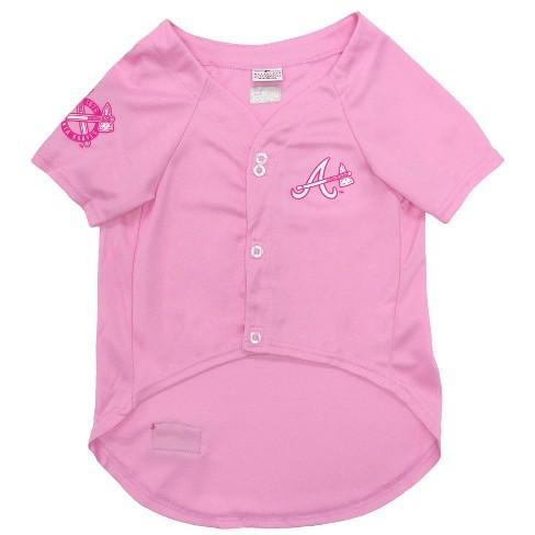 946308d6c0d Atlanta Braves Pets First Pink Pet Baseball Jersey - Pink M   Target