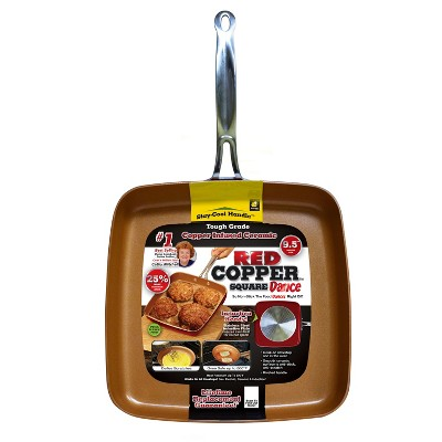 As Seen on TV® Copper Square Pan - 9.5
