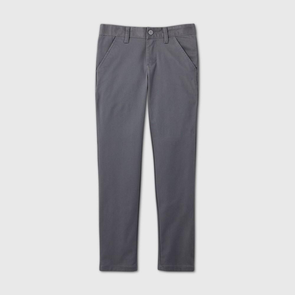 Girls 39 Flat Front Stretch Uniform Skinny Pants Cat 38 Jack 8482 Charcoal Gray 10 Plus