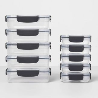 20pc Plastic Food Storage Set - Made By Design™