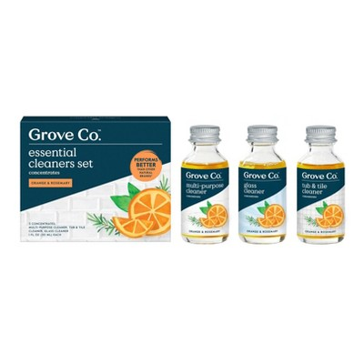 Grove Co. Essential Cleaner Concentrates - Orange & Rosemary - 3pk