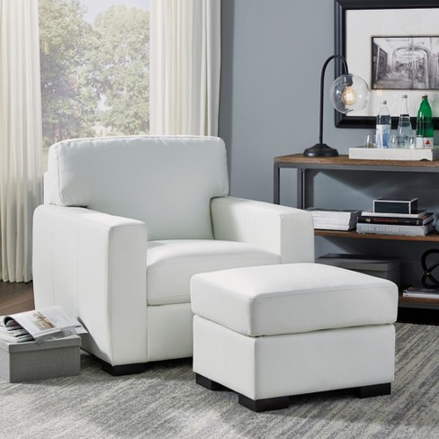 Admirable Erin Upholstered Contemporary Chair Ottoman Ivory Home Styles Pdpeps Interior Chair Design Pdpepsorg