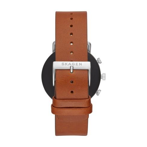 5d67a6fd37 Skagen Smartwatch - Falster 2 40mm Brown Leather : Target