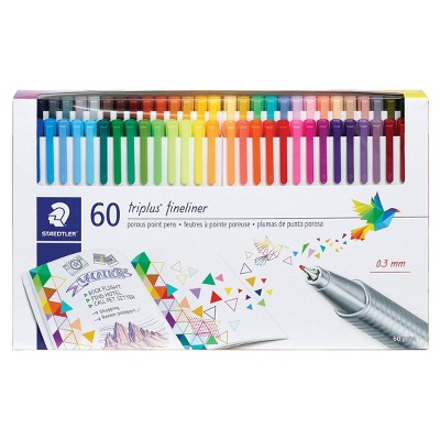 60pk Porous Point Pens Triplus Fineliner Multiple Colored Ink - Staedtler