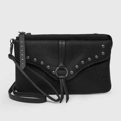 Stella & Max Zip Closure Wristlet with Phone Charging Battery - Black