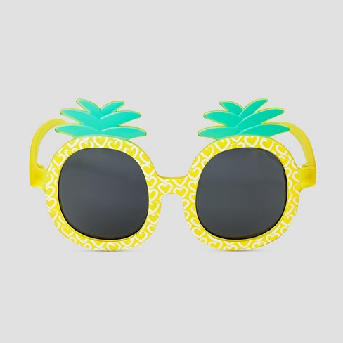 Toddler Girls' Pineapple Sunglasses - Cat & Jack™ Yellow - image 1 of 1