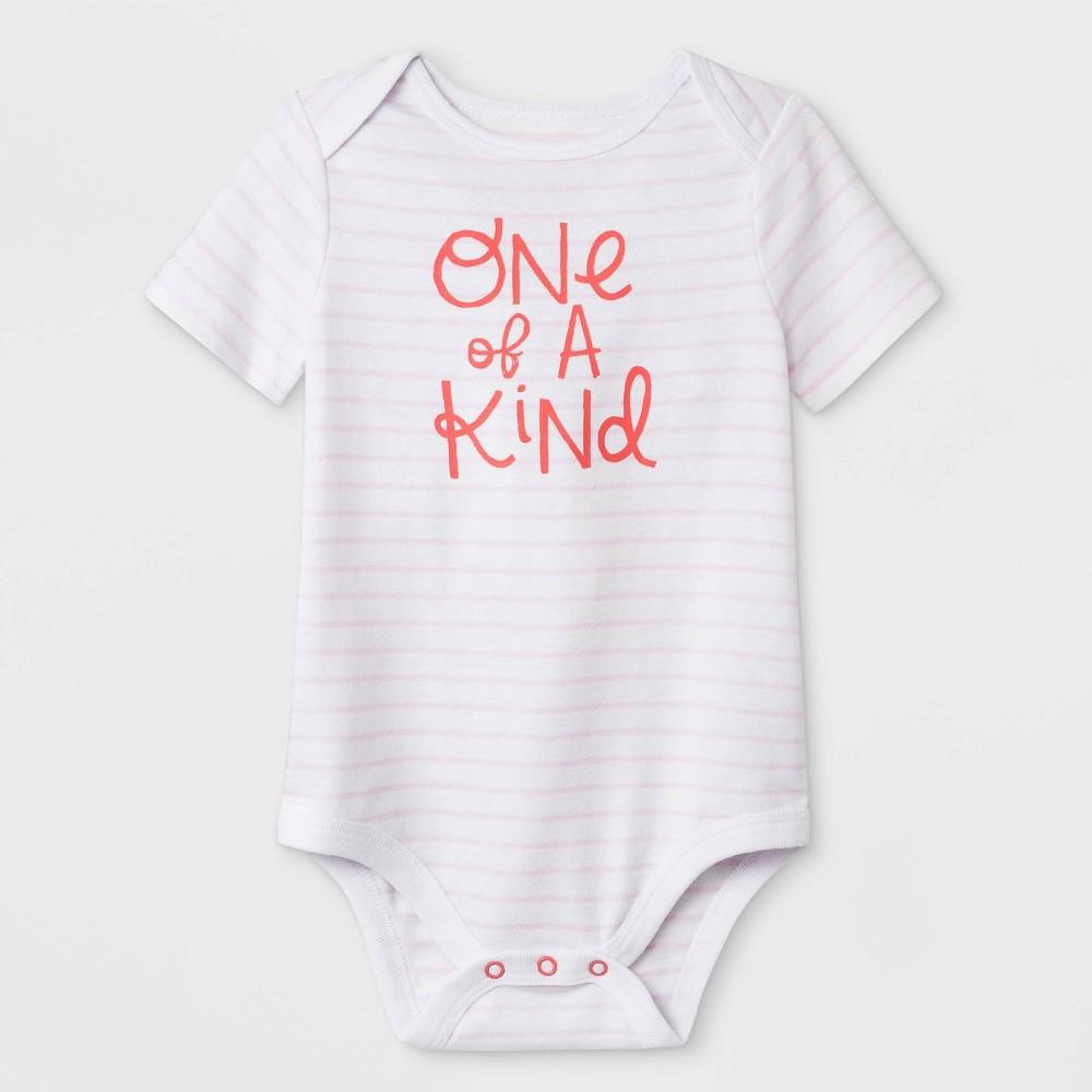 Best Shopping Baby Girls Short Sleeve One Of A Kind Lap Shoulder Bodysuit Cat Jack White 3 6M