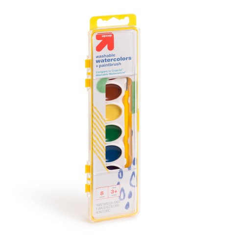 8ct Watercolor Paints with Brush Washable - Up&Up™ - image 1 of 4
