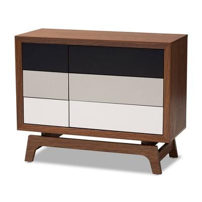 6 Drawer Svante Wood Chest Brown - Baxton Studio