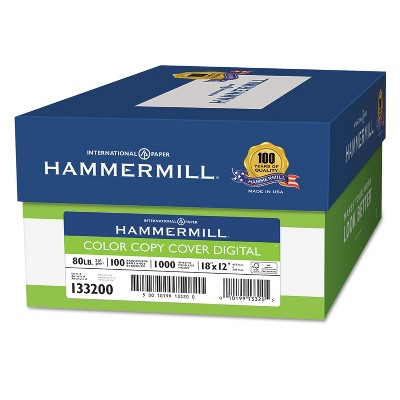 Hammermill Copier Digital Cover Stock, 80 lbs., 18 x 12, Photo White, 1000 Sheets 133200