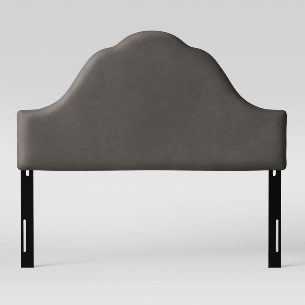 Full Zinnia Arched Headboard Gray Velvet - Opalhouse