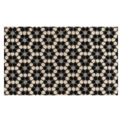 1'6 x2'6  Mosaic Design Woven Door Mat Black - Novogratz By Momeni