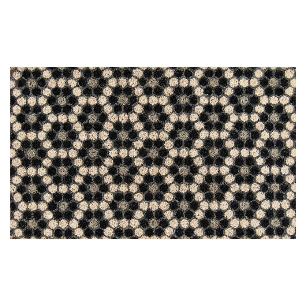 Mosaic Design Woven Door Mat Black