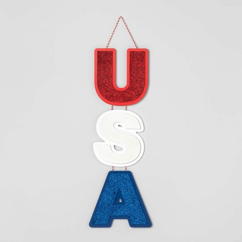USA Vertical Hanging Wall Sign - Sun Squad™ - image 1 of 1