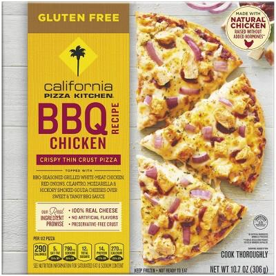 California Pizza Kitchen Gluten Free Crispy Thin Crust BBQ Recipe Chicken Frozen Pizza - 10.7oz