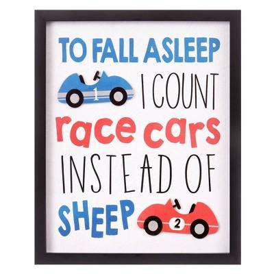 "18""x22"" I Count Race Cars Framed Wall Art Print - Nielsen Bainbridge"