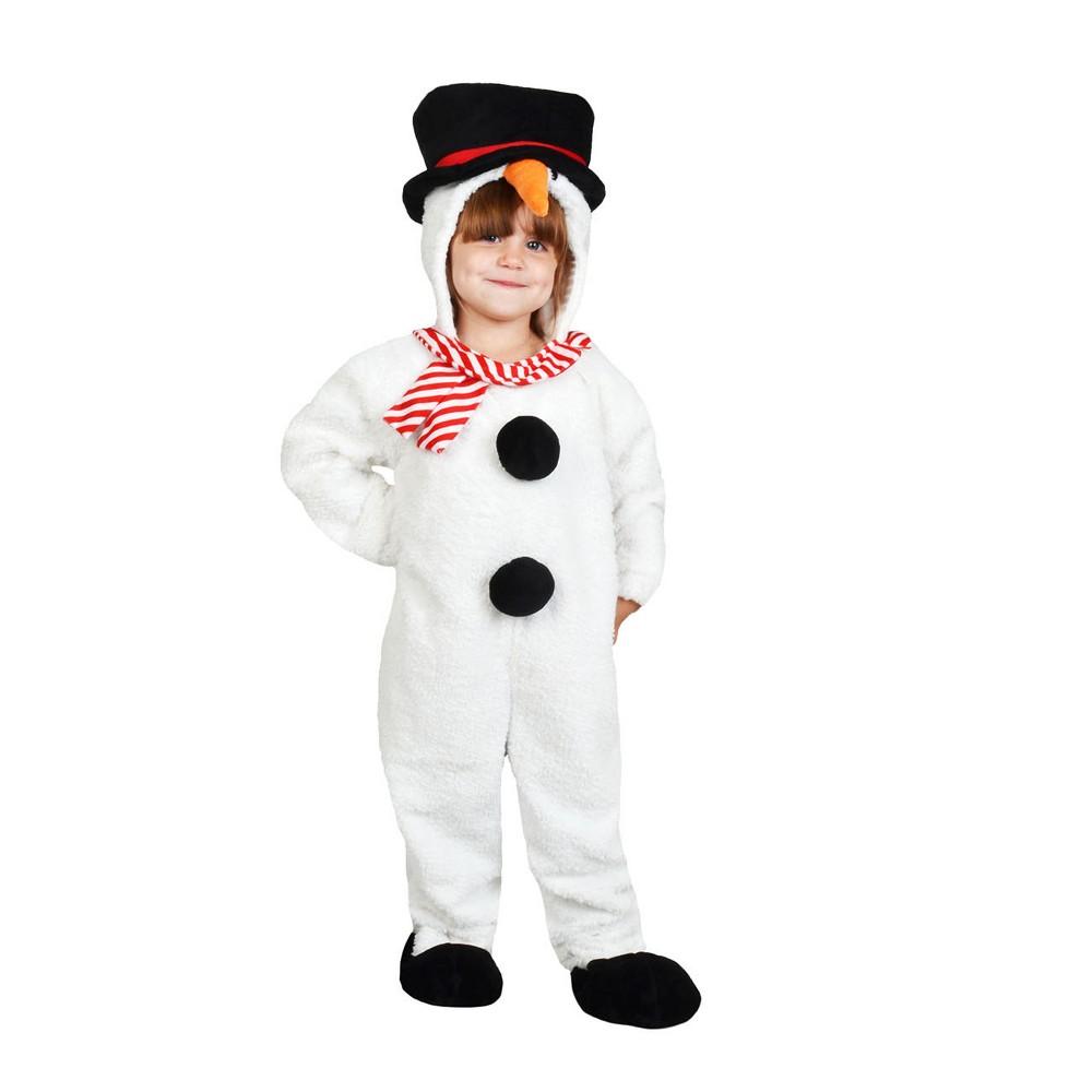 Toddler Plush Snowman Jumpsuit Costume 2-3T - Wondershop, Toddler Unisex, Size: 2T-3T, White