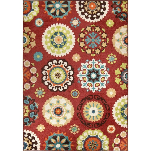 Indoor Outdoor Area Rug Beige