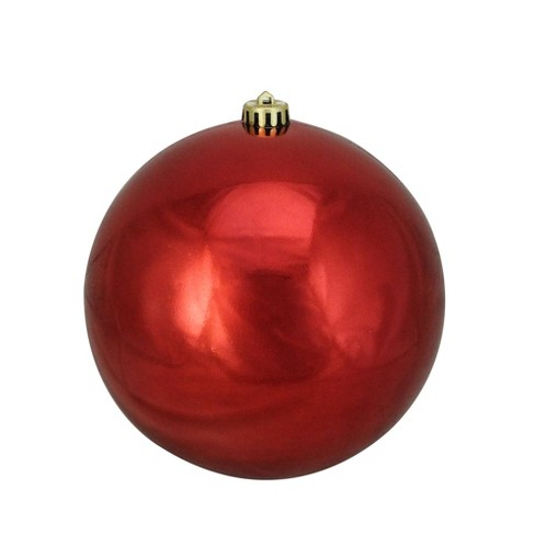 Christmas Ball Ornaments.Northlight 8 Shatterproof Shiny Christmas Ball Ornament Red