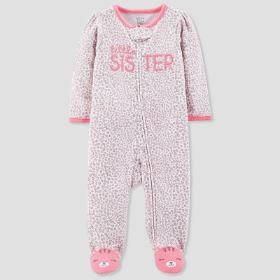 Baby Girls' Little Sister Cotton Sleep N' Play - Just One You® made by carter's Pink 3M