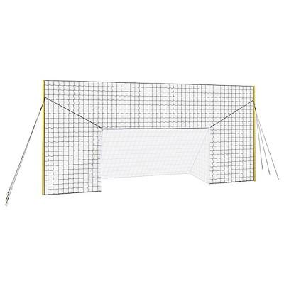 Open Goaaal JX-OGFJ3 Adjustable Soccer Practice Net Rebounder Backstop with Training Goal, Junior Size