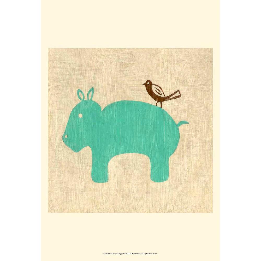 Art.com - Best Friends Hippo Art Print
