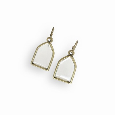 Sanctuary Project Dainty Stained Glass Earrings Antique Gold