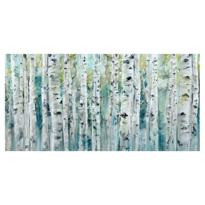 Spring Birches By Studio Arts Wrapped Unframed Wall Canvas - Masterpiece Art Gallery