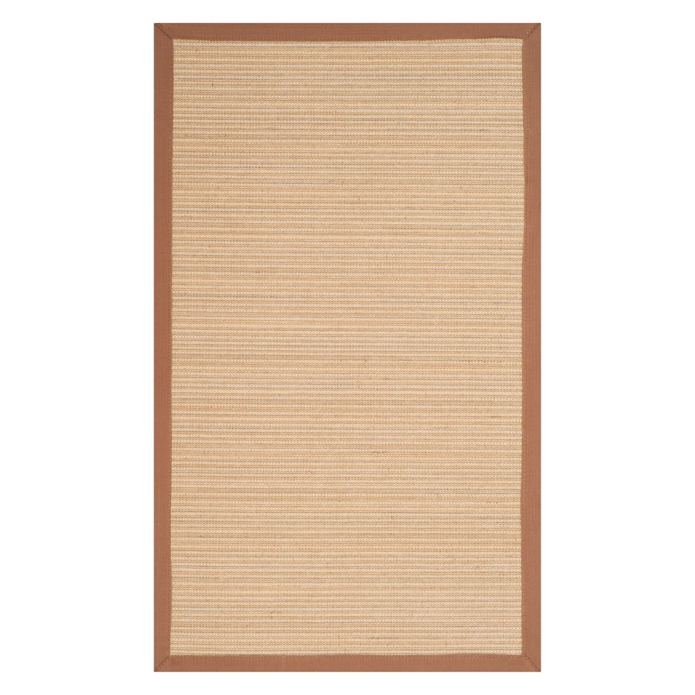 3X5 Stripe Loomed Accent Rug Light Brown - Safavieh Coupons