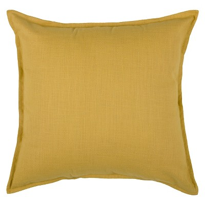 "20""x20"" Oversize Solid Square Throw Pillow Mustard - Rizzy Home"