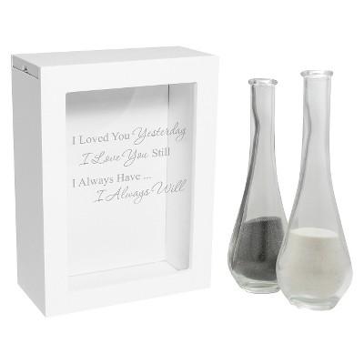 3ct White Always Quote Wedding Sand Ceremony Shadow Box Set