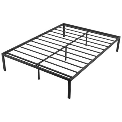 Costway 14 Inch Full\Queen  Metal Platform Bed Frame Steel Slat Mattress Foundation