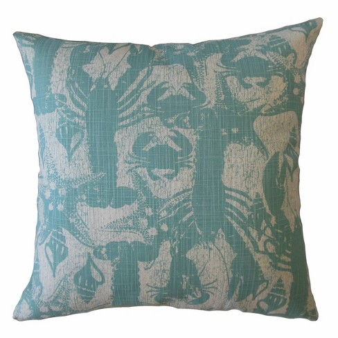 Sandrunner Cancun Square Throw Pillow Aqua - Pillow Collection - image 1 of 2