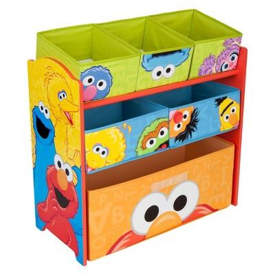 Delta Children Multi-Bin Toy Organizer - Sesame Street