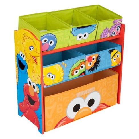 Delta Children Multi Bin Toy Organizer Sesame Street