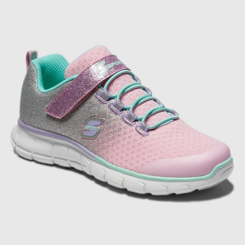 Girls' S Sport by Skechers Bethanie Performance Athletic Shoes - Pink 1, Silver Pink White